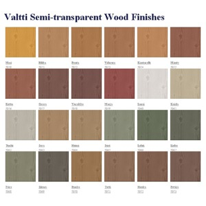 valttib semi-transparent wood finishes